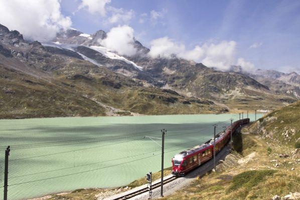 Treinreizen in Zwitserland. Foto Mevrouw Klooswijk