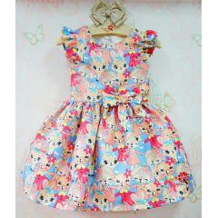 Vestido Infantil Coelhinhas Mon Sucré