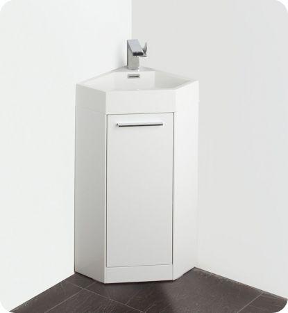 14 Inch White Modern Corner Bathroom Vanity with Optional Medicine Cabinet  UVFVN5082WH14. 17 Best ideas about Corner Bathroom Vanity on Pinterest   Hair