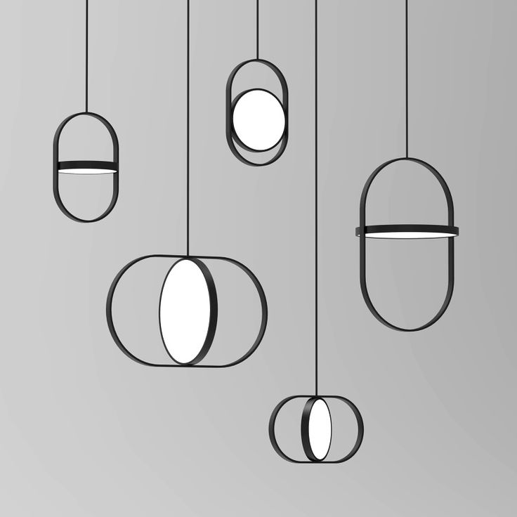 Elina Ulvio's 'Kuu' pendants (2016) use formed plywood and acrylic to create fascinating variations on circles and ovals.