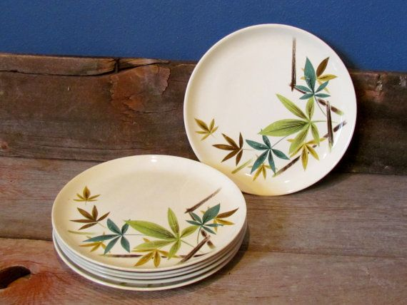 Set of Six Mid Century Salem China Company by ShortPantsVintage. Modern DinnerwareSet ... & 37 best Mid Century Modern Dinnerware images on Pinterest   Vintage ...