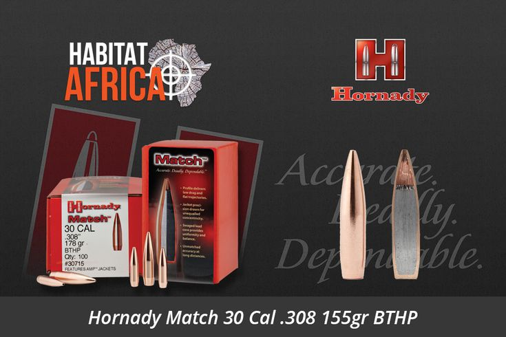 The Hornady Match 30 Cal .308 155gr BTHP bullets feature revolutionary AMP (Advanced Manufacturing Process) bullet jackets. Developed by Hornady engineers, these bullet jackets are a technological advancement in design, tooling and manufacturing that combine to produce the most consistently concentric bullet jackets available. These new AMP jackets are the [...]