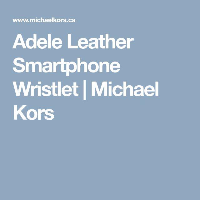 Adele Leather Smartphone Wristlet    Michael Kors