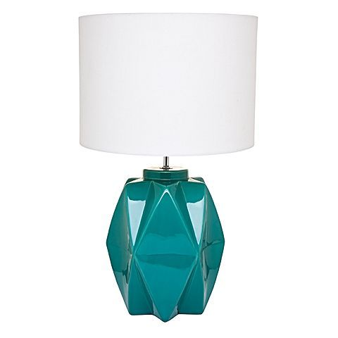 Ground your modern interior style with bold colour and geometry, displaying the Misha Table Lamp from CAFE Lighting & Living.