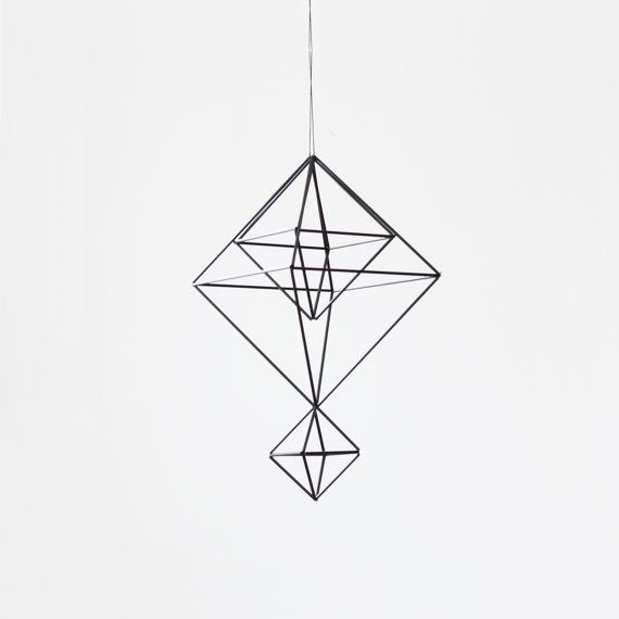 Himmeli no. 6 / Modern Hanging Mobile / Geometric Sculpture / Minimalist Home Decor on Etsy, $66.62 AUD