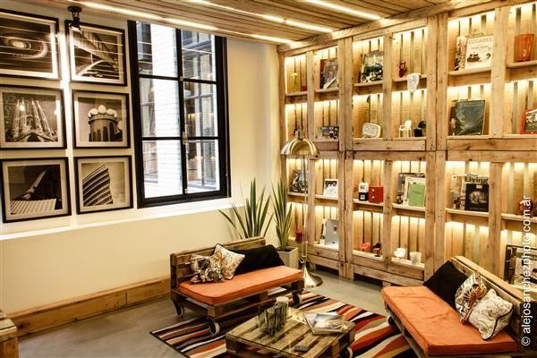 Home office basado en el concepto de la sustentabilidad en conexión con el arte.