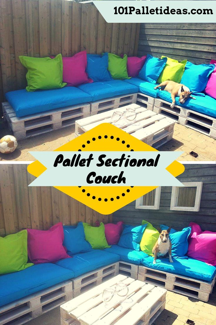 DIY Pallet #Patio Sectional #Couch | 101 Pallet Ideas