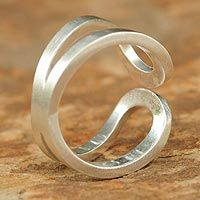 Sterling silver band ring, 'Thai Hug' by Jantana - from @NOVICA, They help #artisans succeed worldwide.