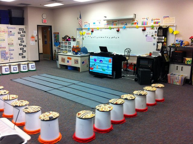 Music Teacher Classroom Decorations : Oh my garsh they are seats and buckets put the fun in