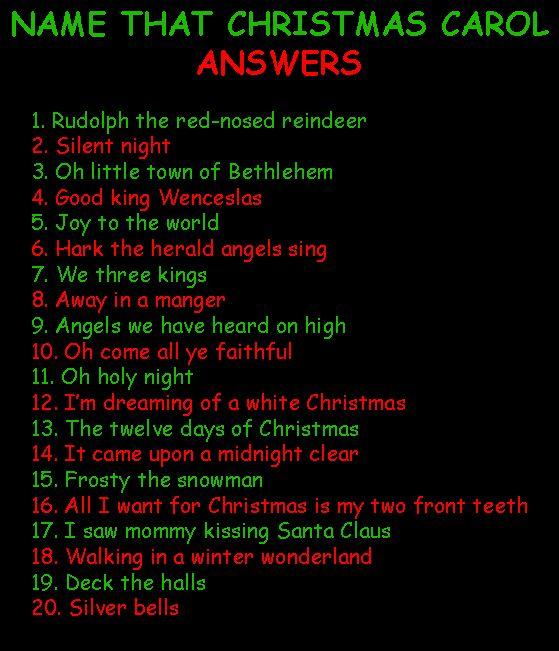 NAME THAT CHRISTMAS CAROL     Free Christmas Games MJA6KwUV