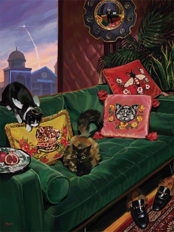bc3df2be4bb Spanish Artist Ignasi Monreal Illustrates 2017 Gucci Gift Catalogue ...