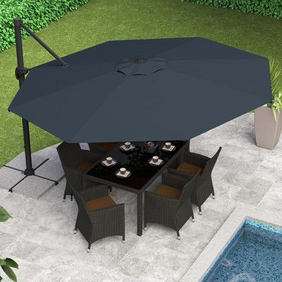 Found it at Wayfair - 11' Deluxe Offset Patio Umbrella