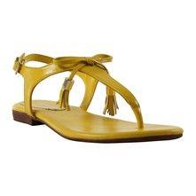 Roberto Durville Tera - Sandales - en cuir jaune