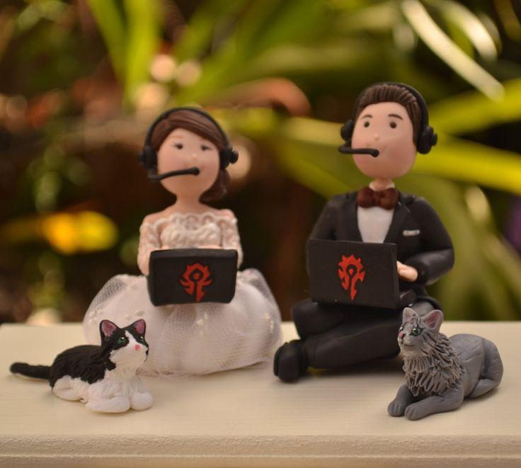 Gamer wedding cake topper. #WoW #Warcraft   Etsy affiliate link.