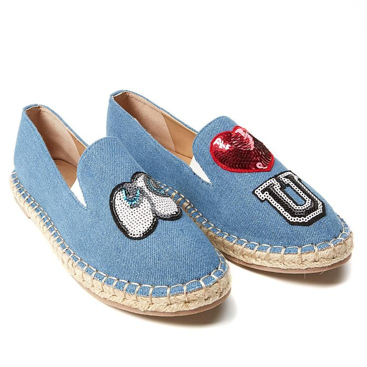 Wendy Williams Patch Espadrille - Blue