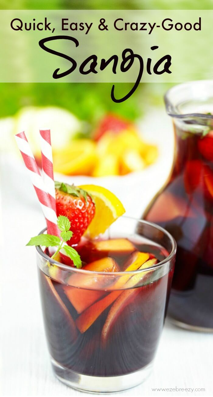 Made with fresh fruit, red wine, blackberry brandy and orange liqueur. So delicious and quick & easy to mix up. Better double the recipe because this sangria is always the hit of the party.