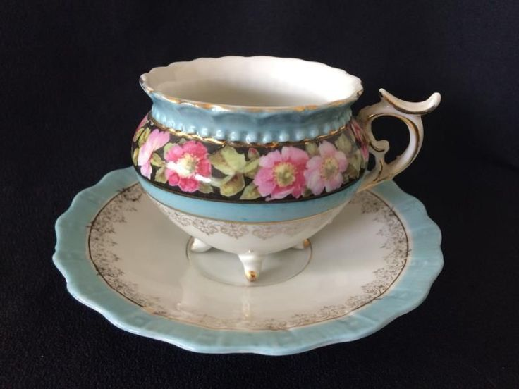 Continental cup & saucer - Victorian period