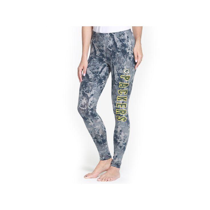 Women's Green Bay Packers Vortex Leggings, Size: Medium, Grey
