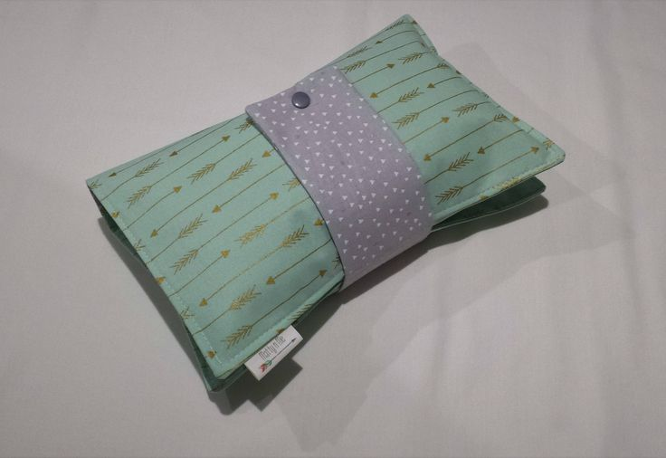Ready to Post Handmade Nappy Wallet - Babyshower Gift - Metalicious Mint Arrow by MattynMe on Etsy