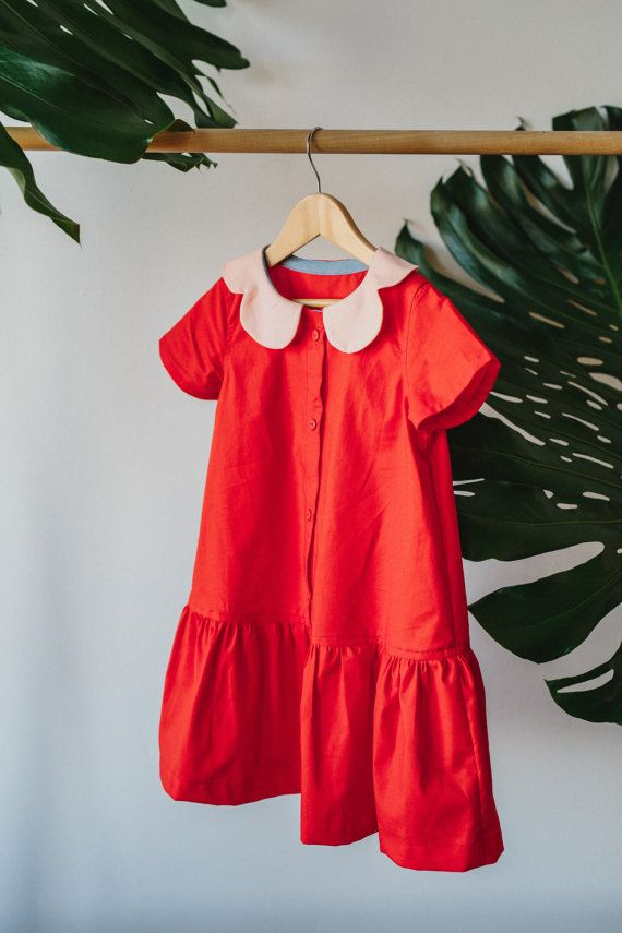 Jeder Pfirsich Drop-Taille Kleid