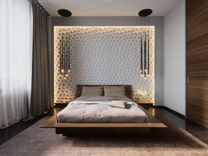 Schlafzimmer kühlen ~ Minimalistische schlafzimmer einrichtung mit vielen grünen