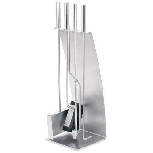 Chimo Bow Front Fireplace Set - 5 Piece