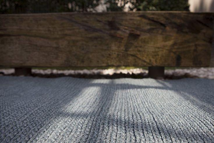 Crochet - modern carpet for the outdoor living