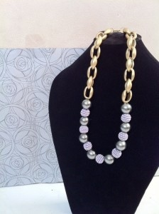 Pastel. Purple beads. Necklace. IDR 75.000