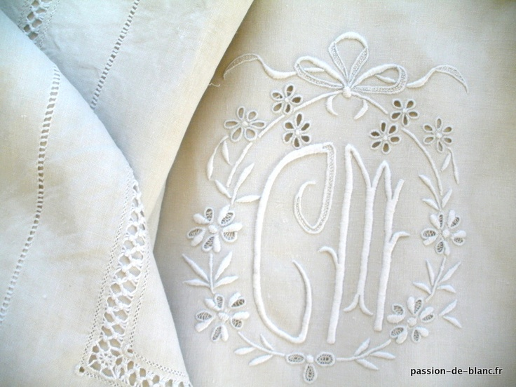 Monogrammed sheets