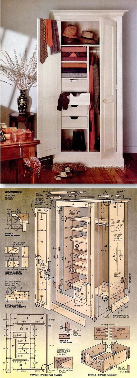Wardrobe Plans Furniture Plans and Projects