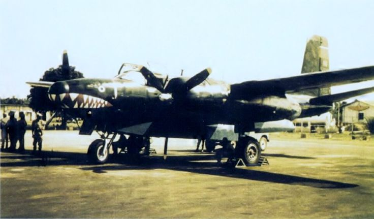 One of the two A-26 Invaders in service with the Biafran Air Force during the Nigerian Civil War