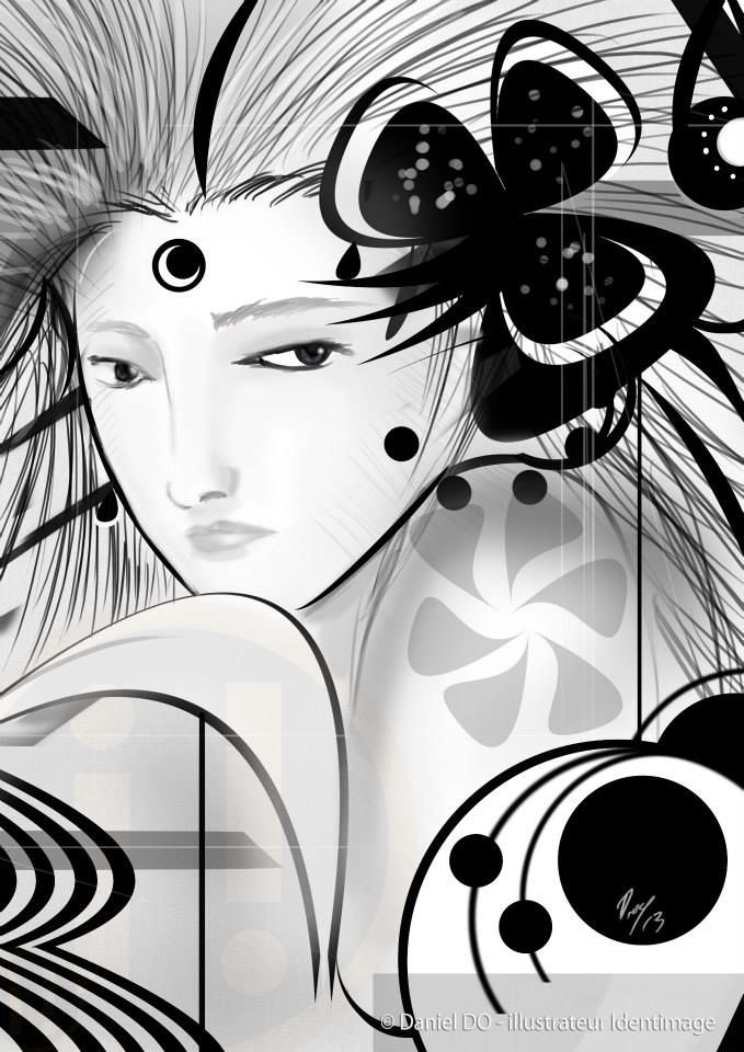 """Black Baccara"" By Daniel Do - Digital Art 2013 www.facebook.com/Identimage www.identimage.com"
