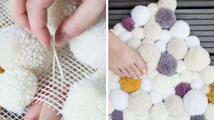 tapis pompons chambre cosy