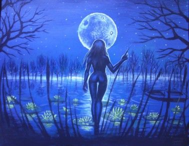 Lacul pictura inspirata din poezia lui Mihai Eminescu