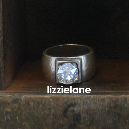 Beautiful Danon Chunky Silver Ring With Single Large Crystal £36 http://www.lizzielane.com/product/danon-chunky-silver-ring-with-single-large-crystal/