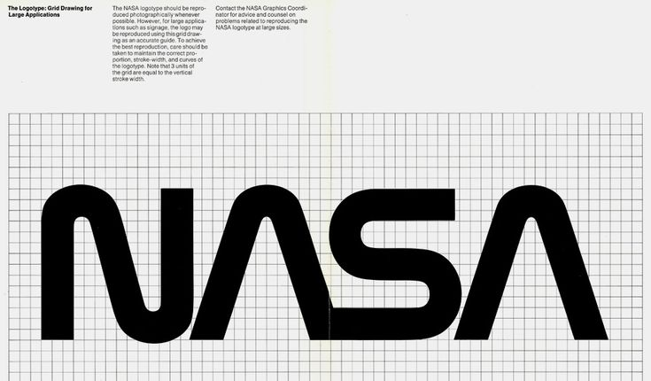 NASA's Logo From The '70s Was Ridiculously Cool | NASA's graphics manual from the 1970s. | Credit: Display | From Wired.com