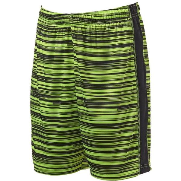 Big & Tall Tek Gear® Performance Shorts ($15) ❤ liked on Polyvore featuring men's fashion, men's clothing, men's activewear, men's activewear shorts, brt yellow, mens activewear and mens activewear shorts
