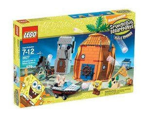 LEGO SpongeBob Adventures at Bikini Bottom by LEGO. $204.97. Includes Patrick's motor boat with a pull-back motor, plus SpongeBob, Squidward, and Gary minifigures. Explore the ocean bottom and go for a ride in Patrick's motor boat, or join SpongeBob and Patrick in a great jellyfish adventure. Shoot some hoops in SpongeBob's pineapple home or watch some T.V. in Patrick's house. From the Manufacturer                Pay a visit to SpongeBob's pineapple home unde...