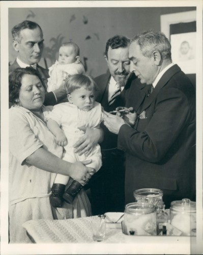 "Dr. Bela Schick was a Hungarian-born American pediatrician. He discovered a cure for diptheria. The Schick test is given to every newborn. He joined the Medicine Faculty of the University of Vienna where he remained until 1923 when he came to the U.S. His discovery of a test for susceptibility to diphtheria (""the Schick test"") made him world famous. Schick made important studies on scarlet fever, tuberculosis, and the nutrition for infants."