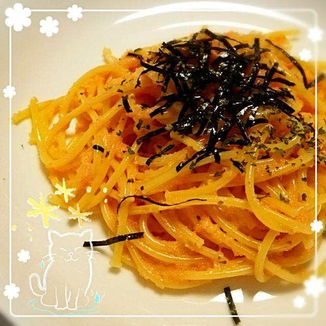 ひかりんごすたーまんのレシピを自分なりにアレンジしました♪ 材料*辛子明太子、タルタルソース、バターに茹でたてパスタを和える。きざみのりをかけて出来上がり☆ 美味しかったー! #1人ご飯 - 10件のもぐもぐ - 辛子明太子パスタ♪ by shizukagooo