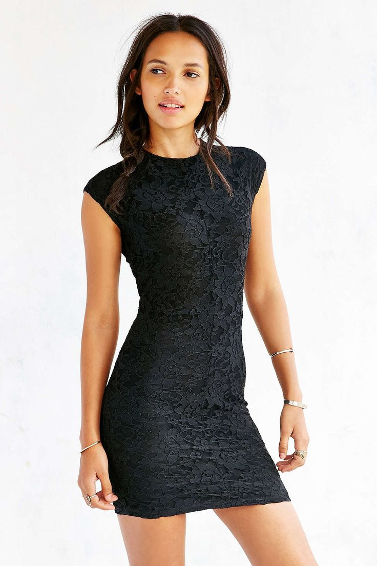 Kimchi Blue Seamed Lace Bodycon Dress - Urban Outfitters