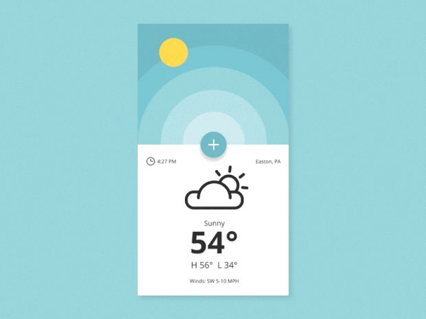 Weather App by Ryan Duffy—The Best iPhone Mockups for Your Next Product:store.ramotion.com/product/iphone-6-mockups