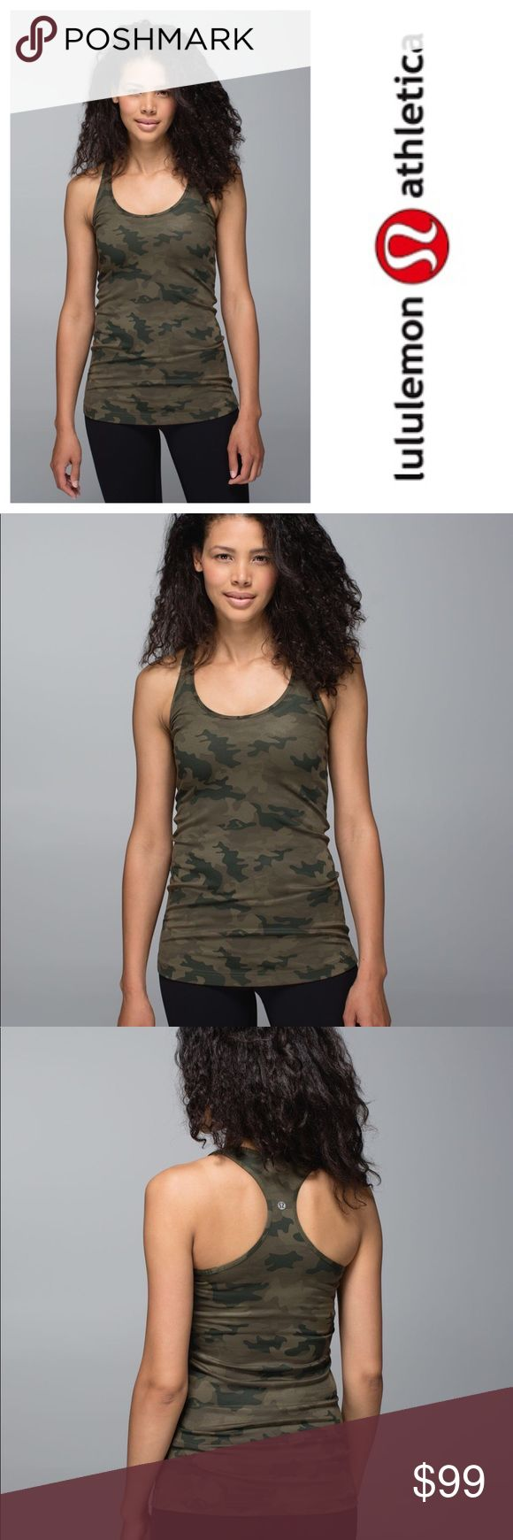 Lululemon Savasana rare camo Tank Top 10 Size 10. Rare camo print. Racerback style. Worn once. In  excellent condition. lululemon athletica Tops Tank Tops