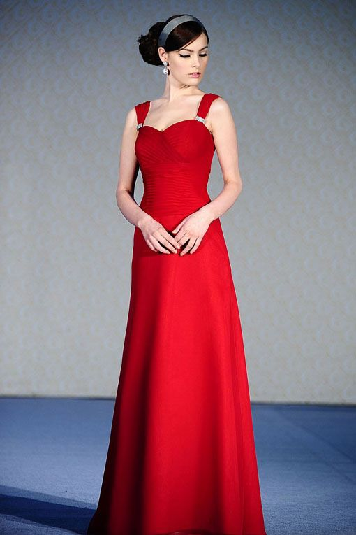 amazing a line empire waist chiffon dress for bridesmaid