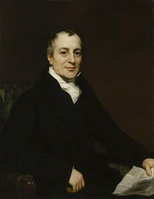Portrait of David Ricardo by Thomas Phillips.jpg The value of a commodity, or the quantity of any other commodity for which it will exchange, depends on the relative quantity of labour which is necessary for its production, and not on the greater or less compensation which is paid for that labour.