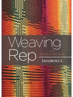 This is the DVD cover for Weaving Rep with Rosalie Neilson.