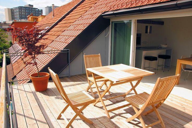 20 beste idee n over dachbalkon op pinterest. Black Bedroom Furniture Sets. Home Design Ideas