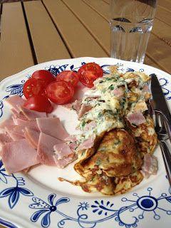 Ullas Køkken: Omelet med skinke og Basilikum
