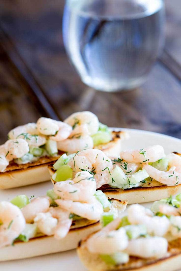 Open Faced Prawn Sandwich with Grape and Celery
