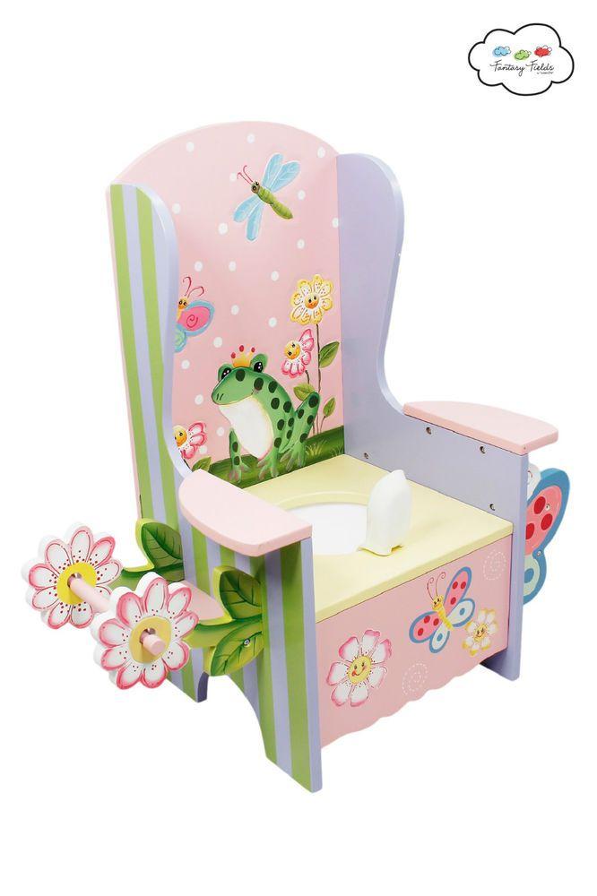 Magic Garden Toddler Wooden Potty Chair Toilet Training Teamson Fantasy Fields in Home, Furniture & DIY, Children's Home & Furniture, Bathroom | eBay